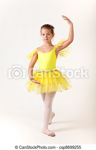 Cute little girl as ballet dancer - csp8699255