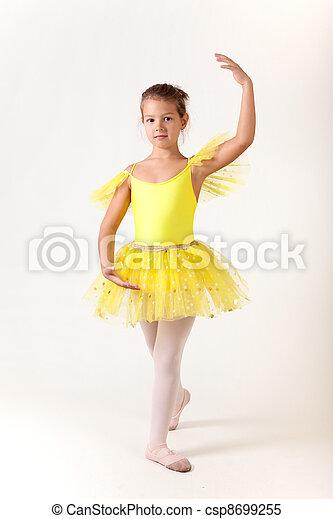 Cute little girl as ballet dancer  - csp8699255