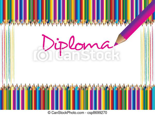 Diploma for children - csp8699270