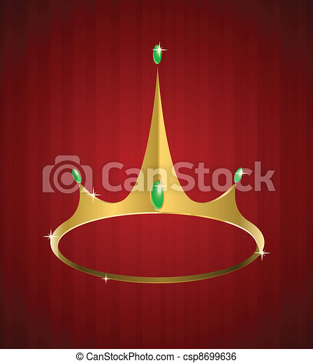 Vector golden crown with diamonds - csp8699636