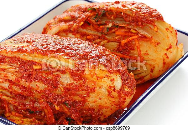 homemade kimchi, korean food - csp8699769