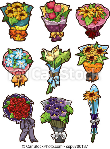 flower bouquet icons - csp8700137