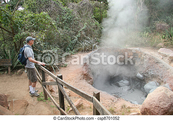 Hiker and Geothermal Steam - csp8701052