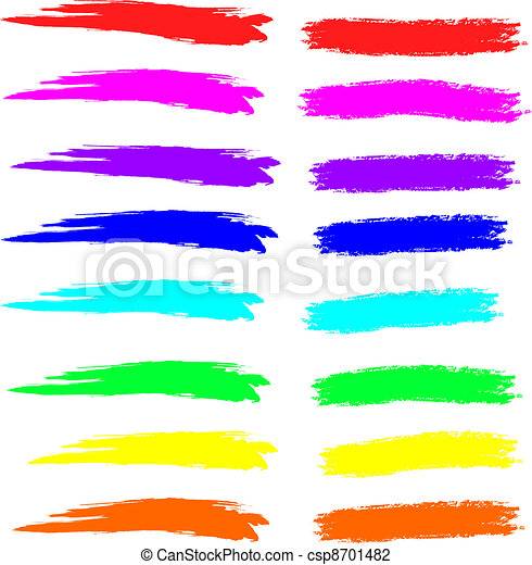 Paint and chalk strokes in spectrum - csp8701482