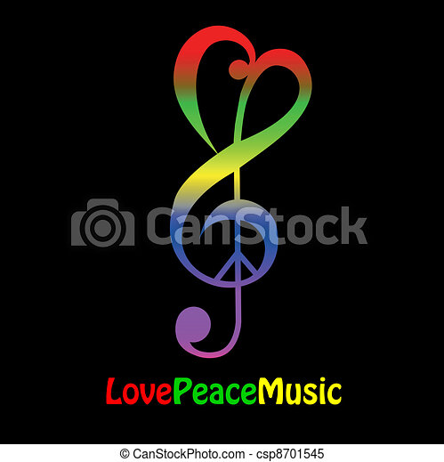 Love, peace and music - csp8701545