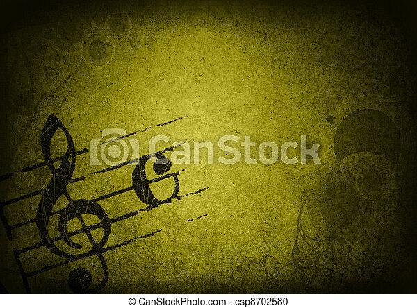 grunge melody  - csp8702580