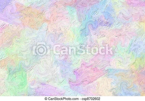 Multi-colored brush strokes - csp8702602