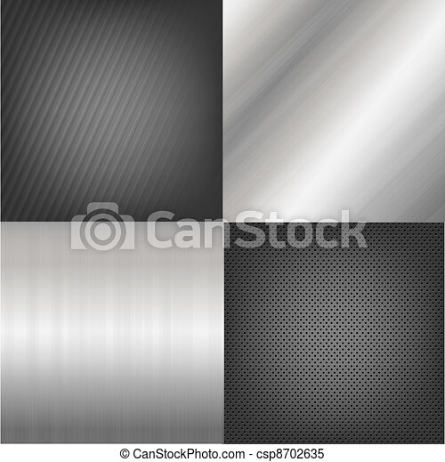 Set Of Metal Texture Background - csp8702635