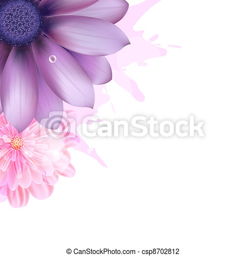 Lilac And Pink Gerbers - csp8702812
