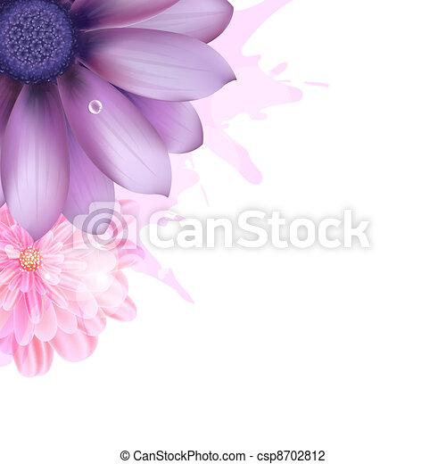 Lilac And Pink Gerbers - csp8702812