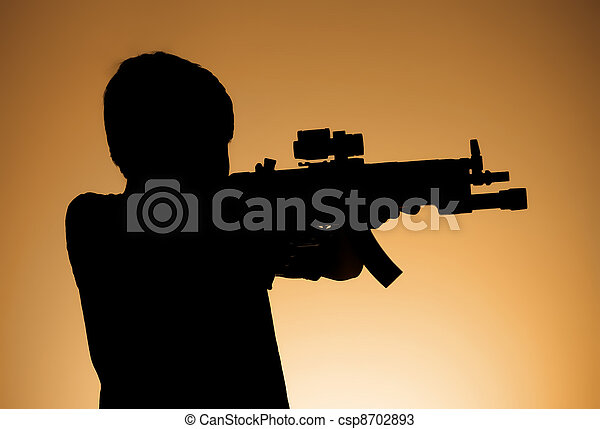 Child Soldier Shadow  - csp8702893