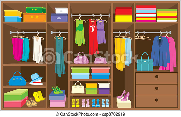 Wardrobe room. Furniture. - csp8702919