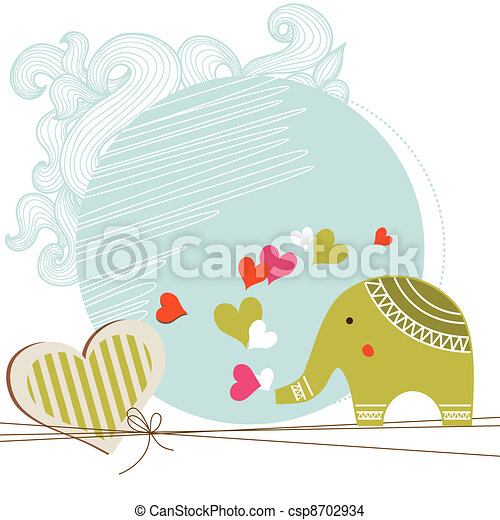 Baby shower card template - csp8702934