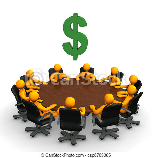 Conference Table Icon Dollar Conference Table