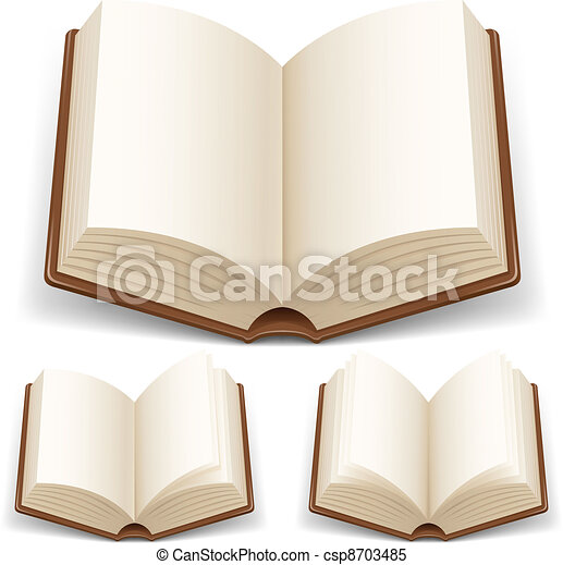 Open book with white pages - csp8703485