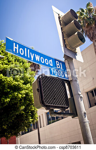 Hollywood boulevard sign - csp8703611