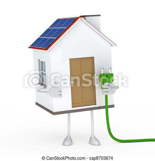 solar house figure - csp8703674