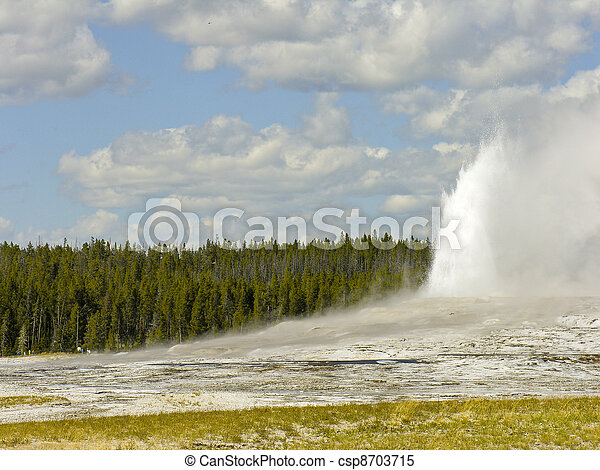Old Faithful, Yellowstone National Park - csp8703715