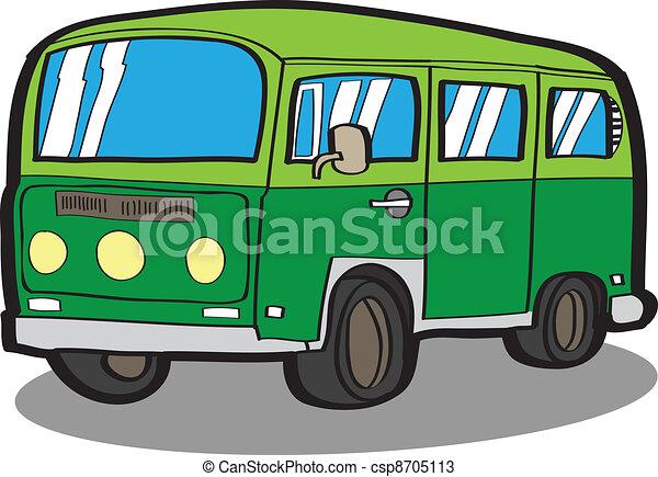 Minivan . Cartoon car - csp8705113