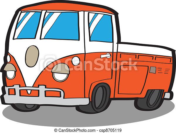 Minivan . Cartoon car - csp8705119