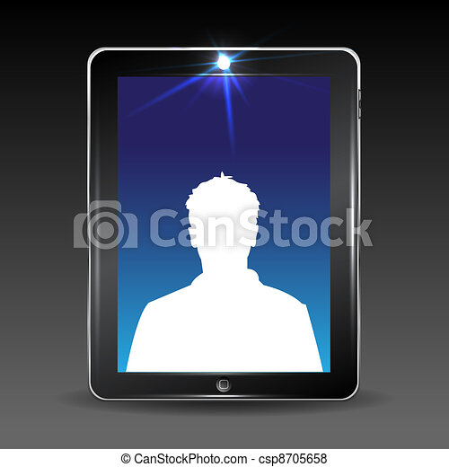 Video conversation by cell or tablet computer - csp8705658