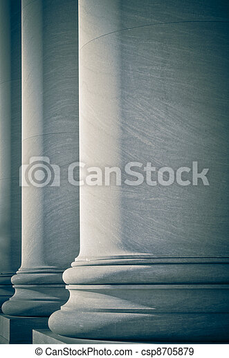Pillars of Law and Education - csp8705879