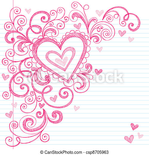 Vectors of Valentines Day Love Hearts Doodle - Valentines Day ...