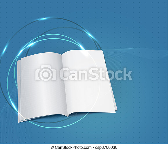 blue business background, with a copybook  - csp8706030