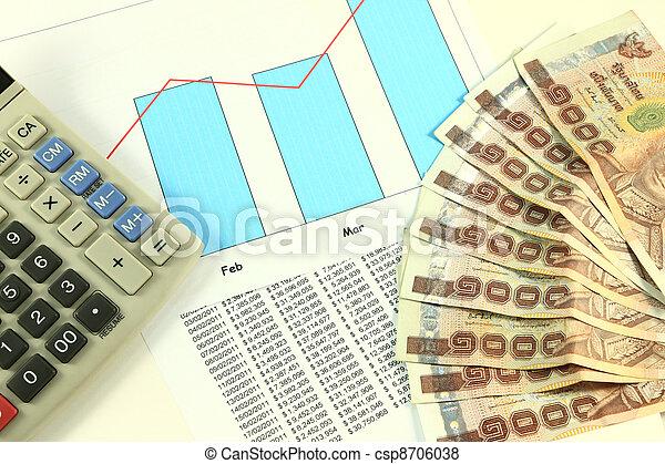 Accounting desktop. - csp8706038