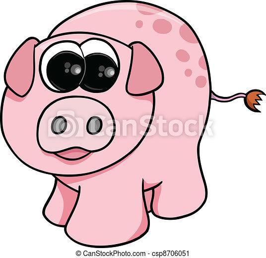 Cute Pigs Drawing Cute Farm Pig Vector