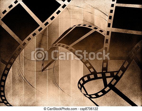 Blank film strip - csp8706122