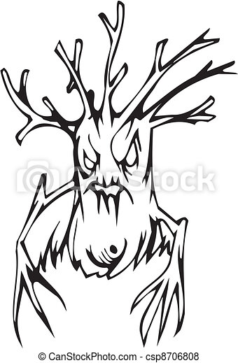 Tree - Halloween Set - vector illustration - csp8706808