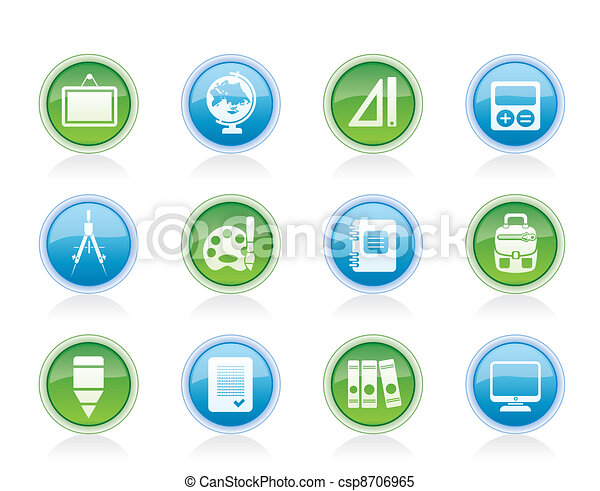 School and education icons  - csp8706965