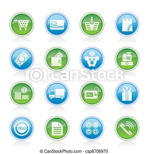 Online shop icons  - csp8706970