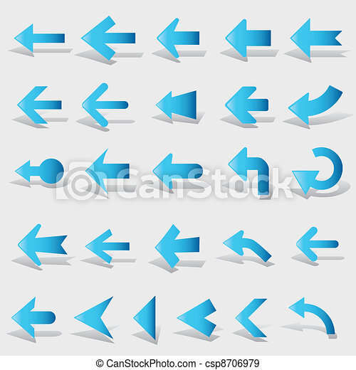 vector arrows set - csp8706979