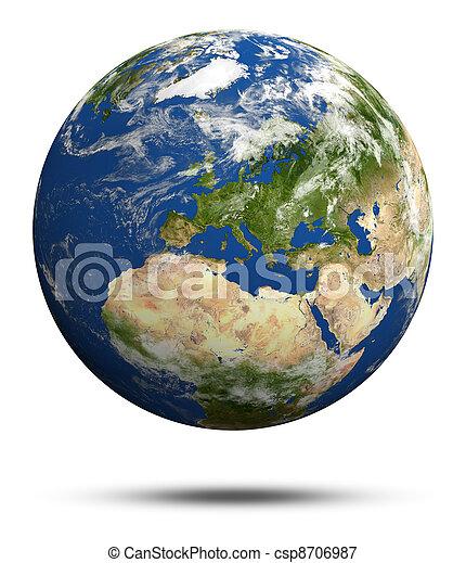 Planet Earth 3d render - csp8706987