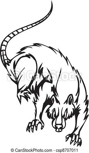 Halloween Rat Clipart