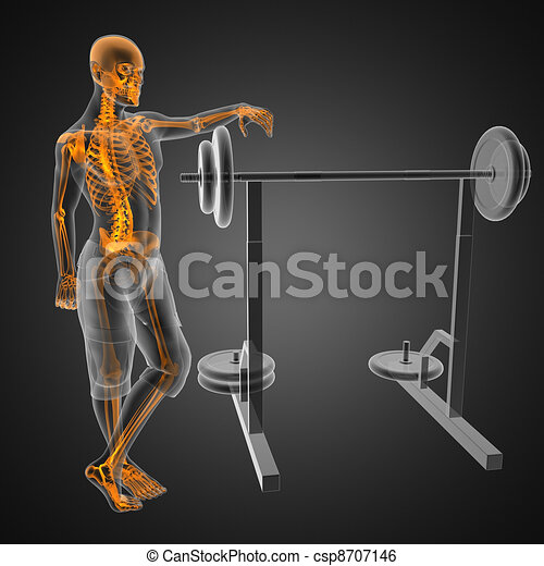 human radiography scan in gym room - csp8707146