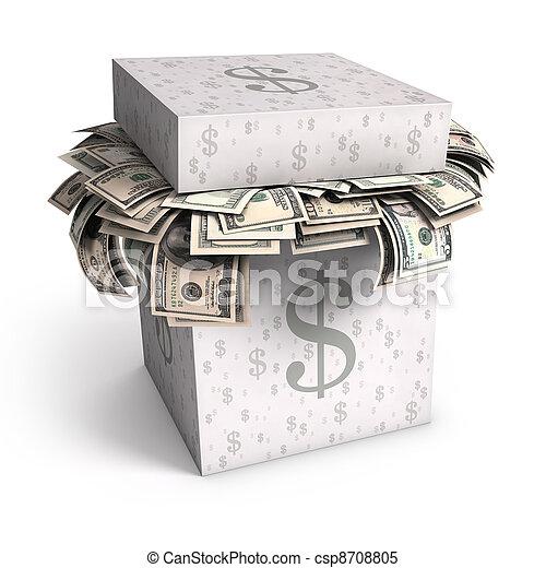 Saving Dollar - csp8708805