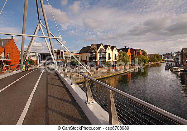 Bridge over the river Wensum - csp8708989
