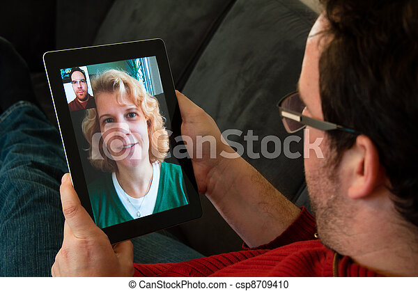 Video Telephony on Digital Tablet PC - csp8709410