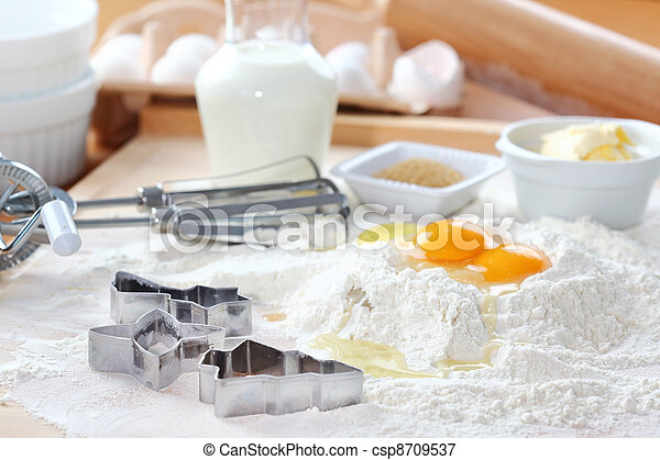Baking ingredients - csp8709537