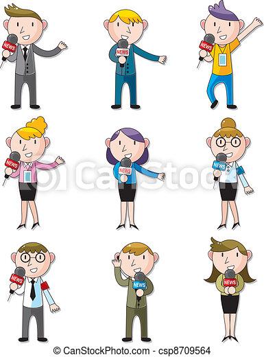 set of reporter people - csp8709564