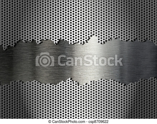 silver metal grate background - csp8709622