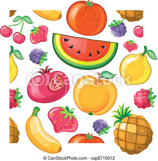 Seamless Juicy fruit texture. - csp8710012