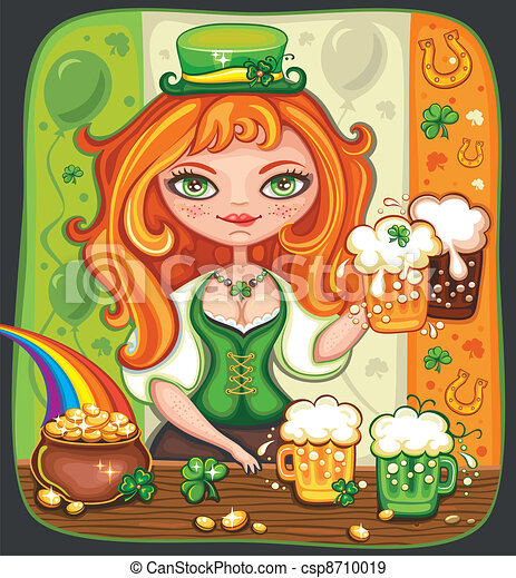 St. Patrick's Day beer  - csp8710019