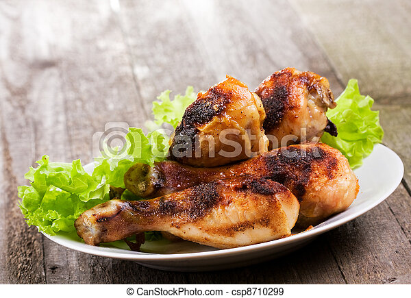 fried chicken with greens - csp8710299
