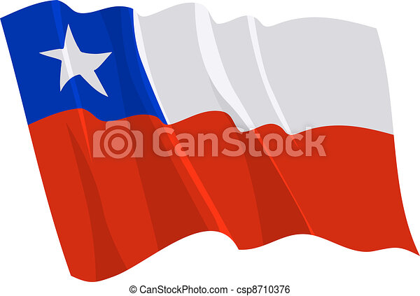 Political waving flag of Chile - csp8710376