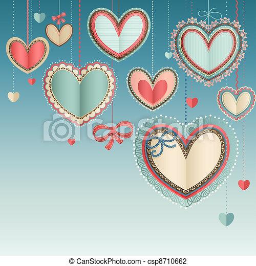 Valentine`s Day vintage card - csp8710662