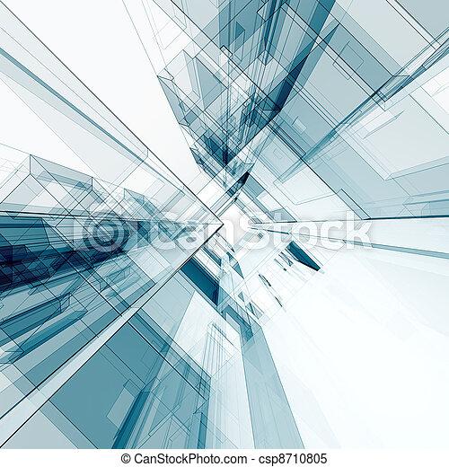 abstrakt, arkitektur - csp8710805